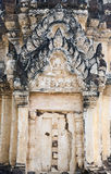 Intricate Thai Architecture. An ancient archway on a Siamese temple in Sukothai Historical Park in northern Thailand Royalty Free Stock Photo