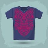 Intricate Tribal shirt print design Royalty Free Stock Photo
