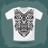 Intricate Tribal shirt print design Stock Photo