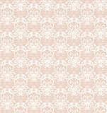 Intricate White Luxury Seamless Pattern on Pink Background Stock Image
