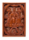 Intricate wood carved artwork Royalty Free Stock Images