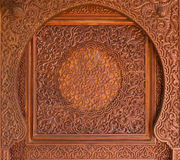 Intricate wooden Islamic decoration Royalty Free Stock Image
