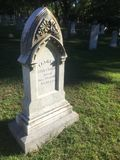 Intricate marble headstone on Cape Cod royalty free stock images