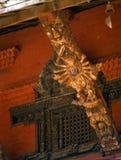 Intricately carved temple struts, Hindu goddess Stock Photos