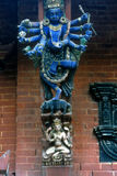 Intricately carved temple struts, Hindu goddess Royalty Free Stock Images