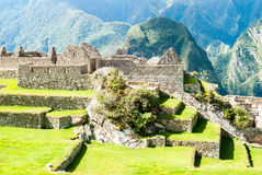 Intricately crafted stonework at Machu Picchu, Peru Stock Image