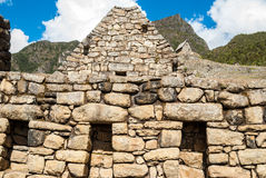 Intricately crafted stonework at Machu Picchu, Peru Royalty Free Stock Photo