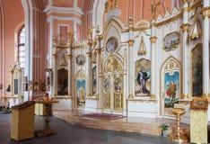 Intérieur d'église de Chesme à St Petersburg, Russie Photos libres de droits