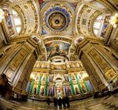 Intérieur d'église orthodoxe Photos stock
