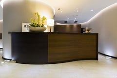 Intérieur d'un hôtel - zone d'accueil Photographie stock