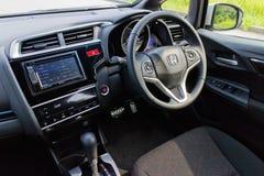 Intérieur de Honda Jazz Fit 2014 Image libre de droits