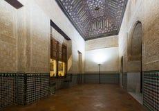 Intérieur de Mexuar Hall au palais de Nasrid, Alhambra Photos stock