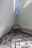 Intérieur de station de CHEMIN de World Trade Center Image stock