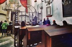 Intérieur de synagogue Images libres de droits