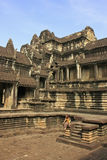 Intérieur de temple d'Angkor Vat, Siem Reap, Cambodge Photo stock
