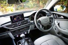 Intérieur hybride d'Audi A6 Photographie stock libre de droits