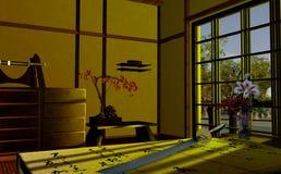 Intérieur japonais Photos libres de droits