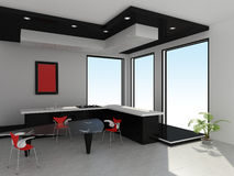 Intérieur moderne de cuisine Images libres de droits