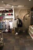 Intérieurs de magasin de souvenir de boutique de cadeaux Images libres de droits