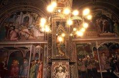 Intérieurs et détails de Palazzo Pubblico, Sienne, Italie Image stock