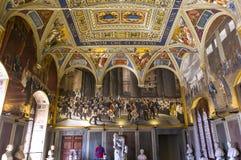 Intérieurs et détails de Palazzo Pubblico, Sienne, Italie Photos stock