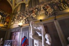 Intérieurs et détails de Palazzo Pubblico, Sienne, Italie Photographie stock libre de droits