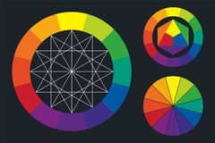 Intrig för färghjul vektor illustrationer