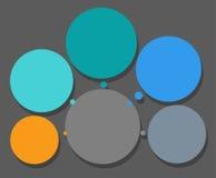 Intrigen, fem sektorer, ram för text, infographics Royaltyfria Bilder