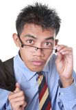 Intrigued businessman portrait royalty free stock image