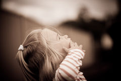 Intrigued little girl Royalty Free Stock Photography