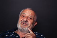 Intrigued old man 2 Stock Photography