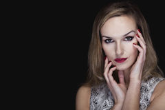 Intriguing look of a vampire beauty Royalty Free Stock Photography