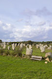 Intriguing standing stones at Carnac in Brittany, north-western France Stock Image