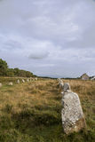 Intriguing standing stones at Carnac in Brittany, north-western France. Intriguing standing stones at Carnac in Brittany in north-western France Stock Photography