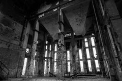 Intrior industrial del abandono Fotografía de archivo