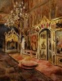 Intrior van de kathedraal royalty-vrije illustratie