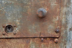 Intriquing gamla Rusty Gas Pump Arkivbild