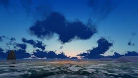 Intro, die wie Kristalle während der Sonnenaufgang-Zeitspanne leuchtet stock footage
