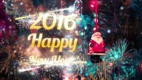 Intro 2016 för lyckligt nytt år arkivfilmer