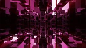 Introdução do vidro da transmissão Animação geométrica das linhas e dos cubos 3D de grade ilustração royalty free