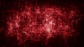introdução MultiLayer vermelha Logo Motion Background da grade da rede da matriz 3D filme