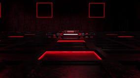 introdução vermelha Logo Background do ambiente da sala da tecnologia da ficção científica 3D video estoque
