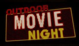 Introducción al aire libre de la noche de película ilustración del vector