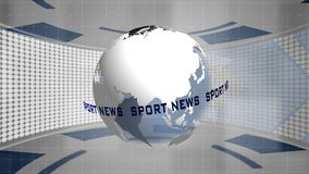 Introducción de la información de las noticias del deporte ilustración del vector