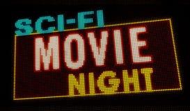 Introducción de la noche de película de la ciencia ficción stock de ilustración
