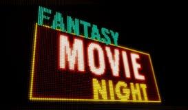 Introducción de la noche de película de la fantasía stock de ilustración