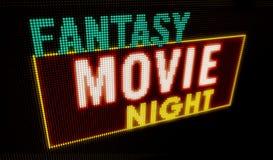 Introducción de la noche de película de la fantasía libre illustration