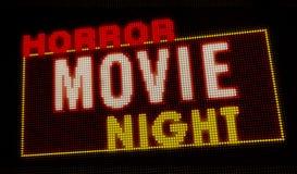 Introducción de la noche de película de terror libre illustration