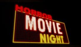 Introducción de la noche de película de terror stock de ilustración