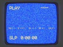 Introducción de la pantalla azul de VHS ilustración del vector